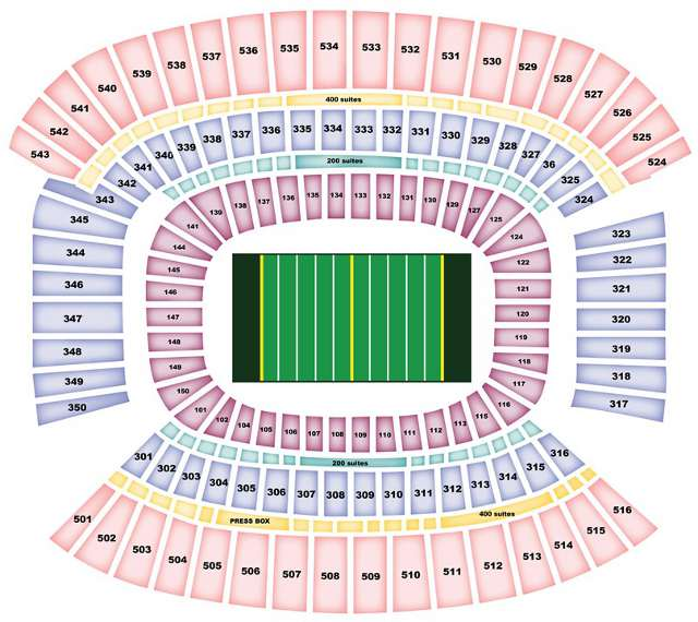 Cleveland Browns Seating Chart for Cleveland Browns Stadium